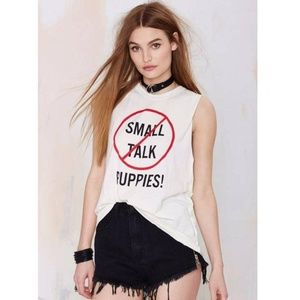 UNIF Small Talk < Puppies! Muscle Tee